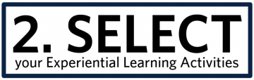 Select Experiential Learning Activities